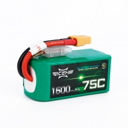 Acehe 1500mAh 14.8V 75C 4S1P Lipo Battery Pack