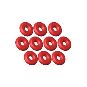 130 X - O-Ring ID 1.5 - W 1.25 Silicon Red - 10 pcs