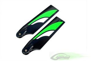 SAB 115mm Carbon Fiber Tail Blade Green