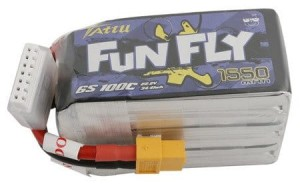 Tattu FunFly 1550mAh 22,2V 100C 6S1P Lipo Battery Pack