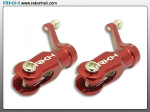 Blade 130X - CNC AL Main Blade Grip Set (Red)