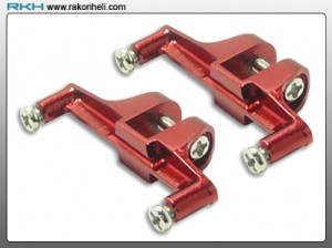 Blade 130X - CNC AL Tail Servo Mount Set (Red)