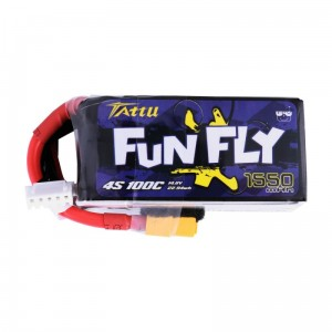 Tattu FunFly 1550mAh 14.8V 100C 4S1P Lipo Battery Pack