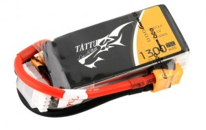 Tattu 1300mAh 11.1V 75C/150C 3S1P Lipo Battery Pack